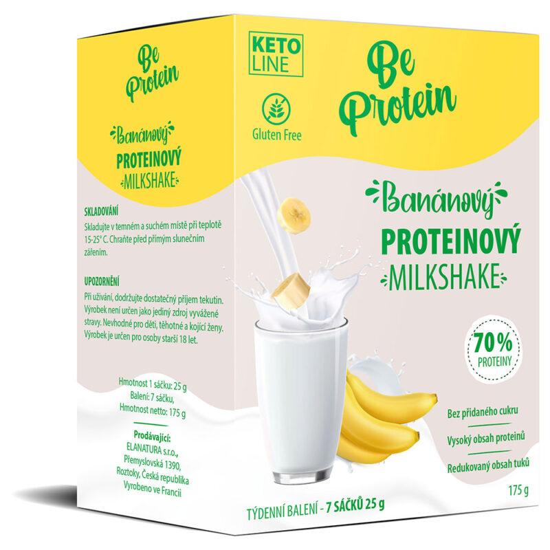 banánový proteinový milkshake