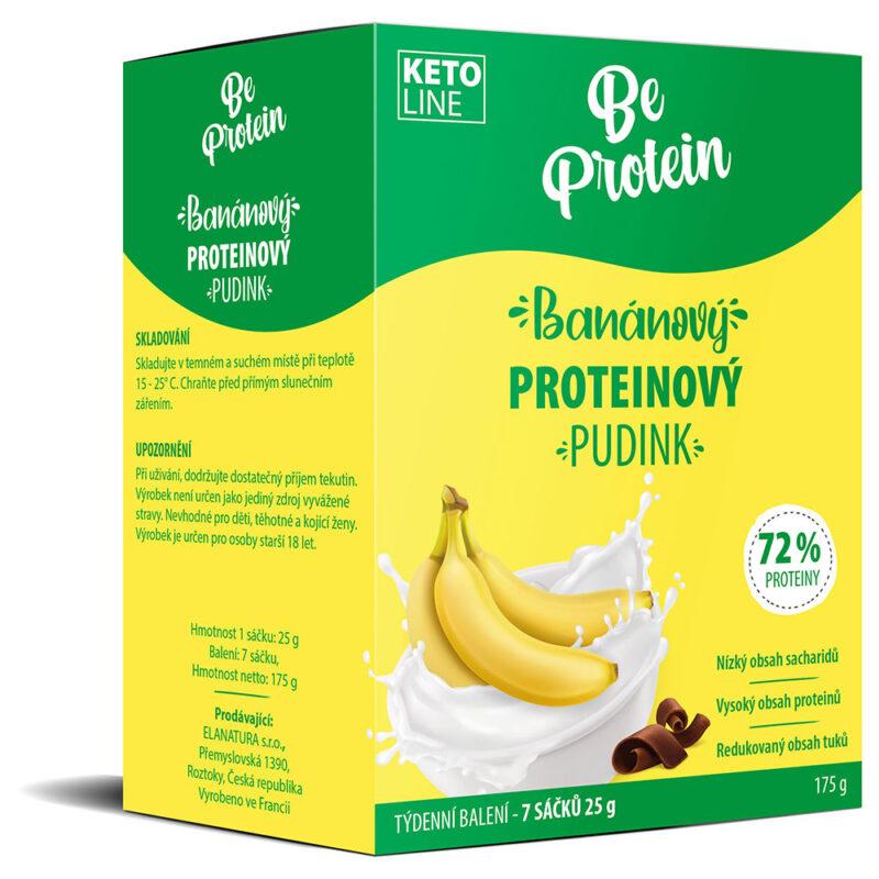 banánový proteinový pudink