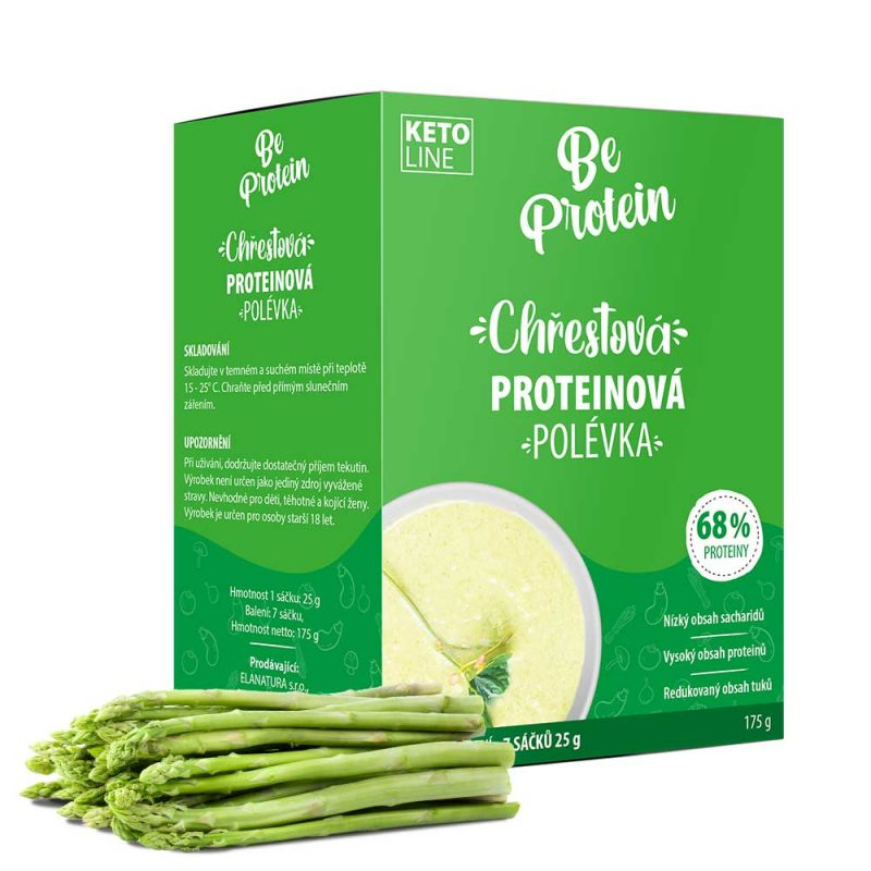 proteinová polévka chřestová