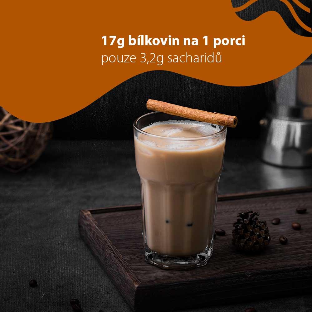 proteinová káva caffe latte