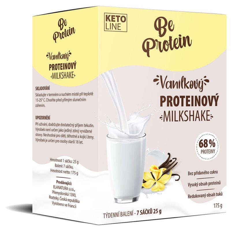 vanilkový proteinový milkshake