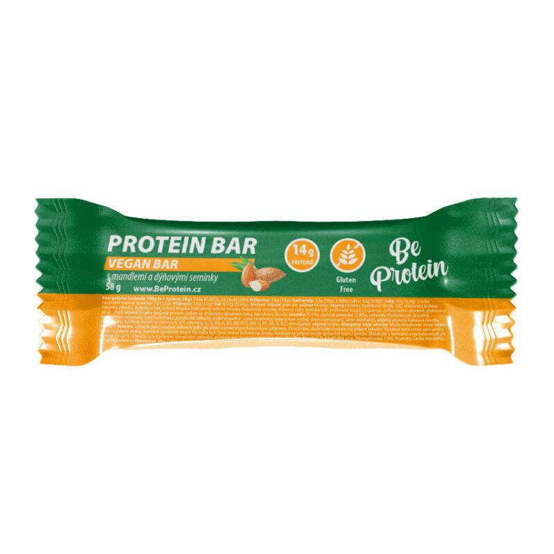 proteinová tyčinka s mandlemi a dýňovými semínky, 58g