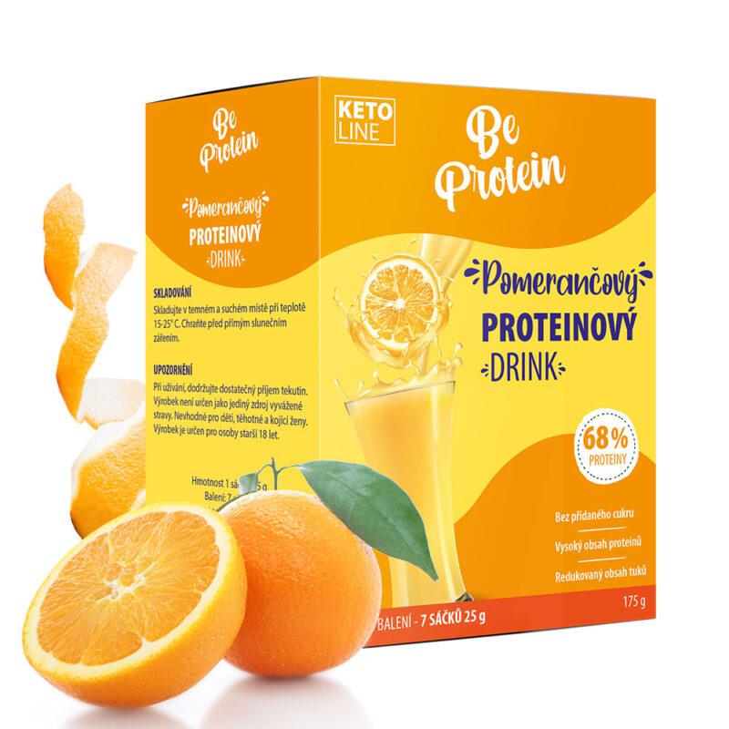 proteinový džus pomerančový