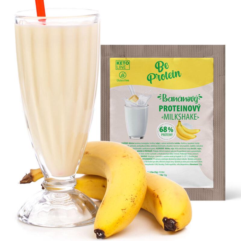 proteinový milkshake banánový