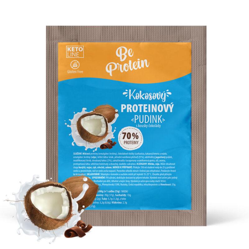 proteinový pudink kokosový