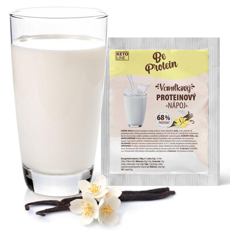 proteinový milkshake vanilkový
